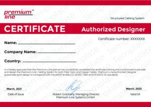 Premium-Line Designer Certificate