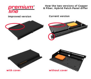 Improved version of Copper & Fiber, Hybrid Patch Panel