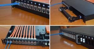 Copper & Fiber, Hybrid Patch Panel